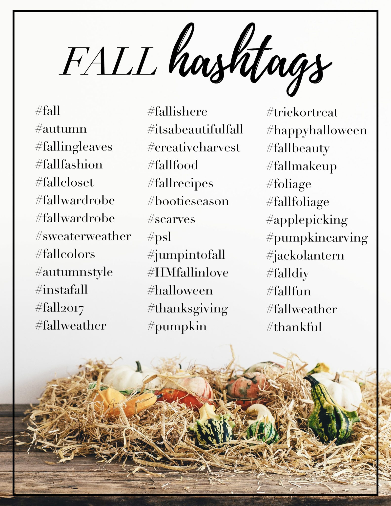Fall Hashtags Holly Habeck