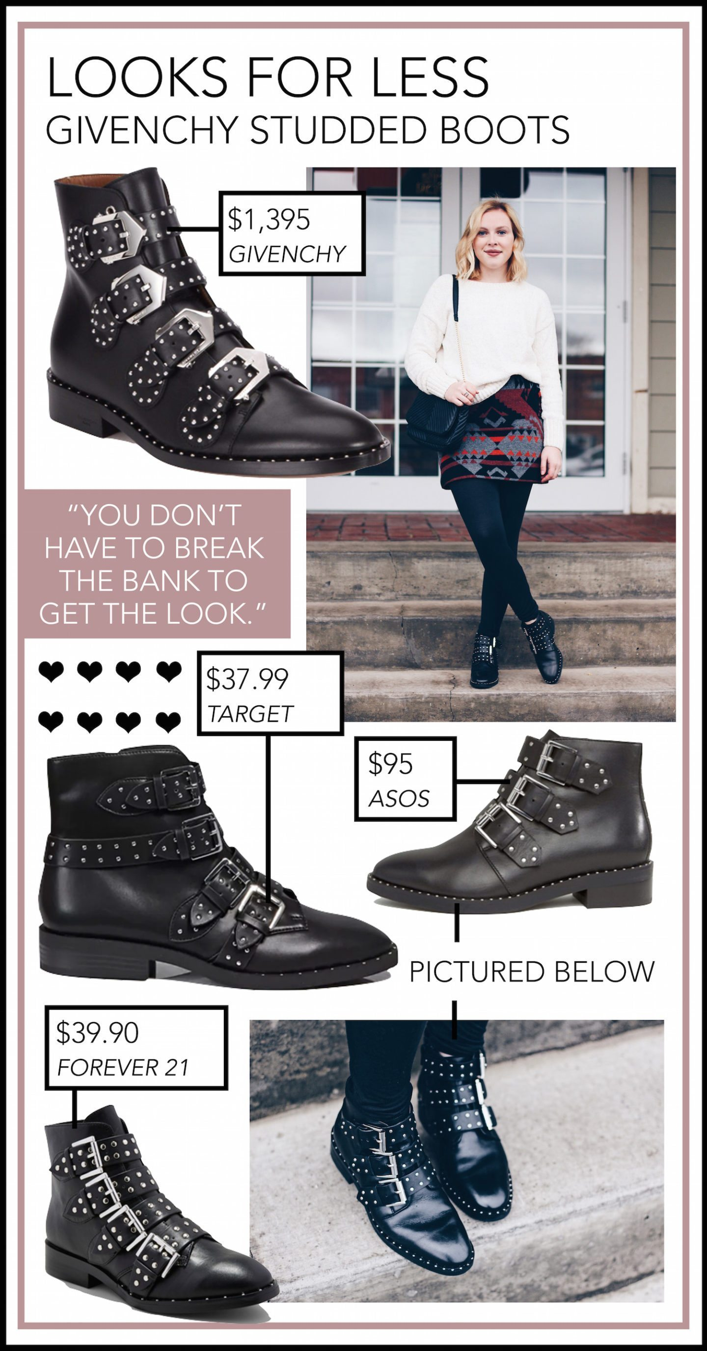 Givenchy Studded Boots Dupe